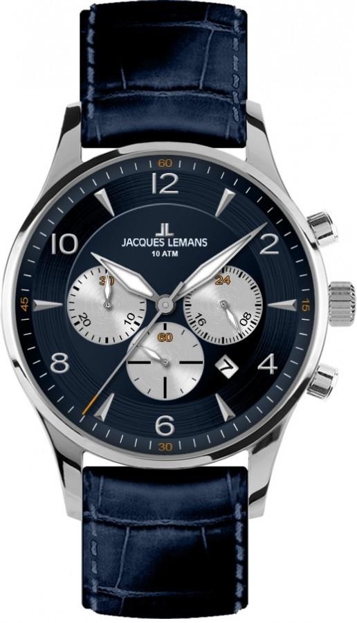 JACQUES LEMANS 1-1654C - Pánské hodinky JACQUES LEMANS London ... 942fc95489